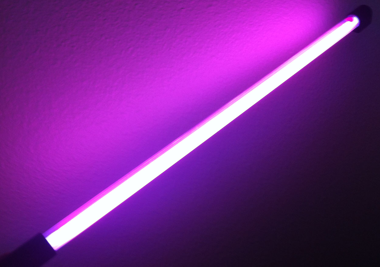 24 Inch Hot Pink Neon Car Light Rod Glow N Street