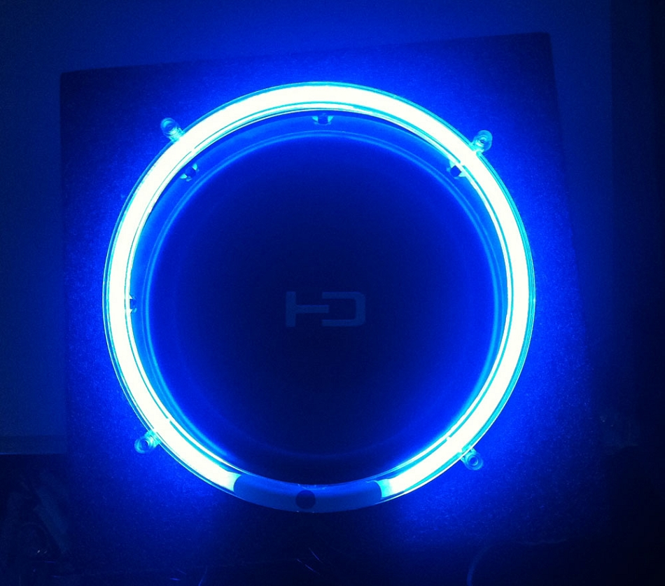 8 inch blue neon speaker rings glow subwoofer