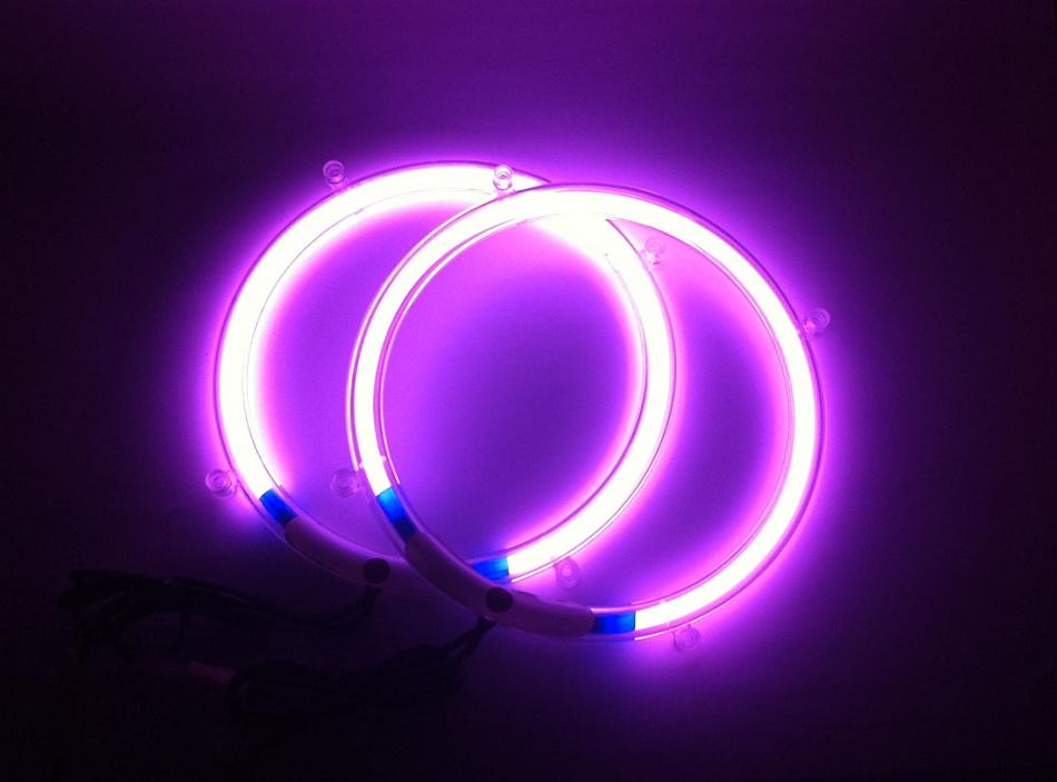 10 Inch Purple Neon Speaker Rings Glow Subwoofer