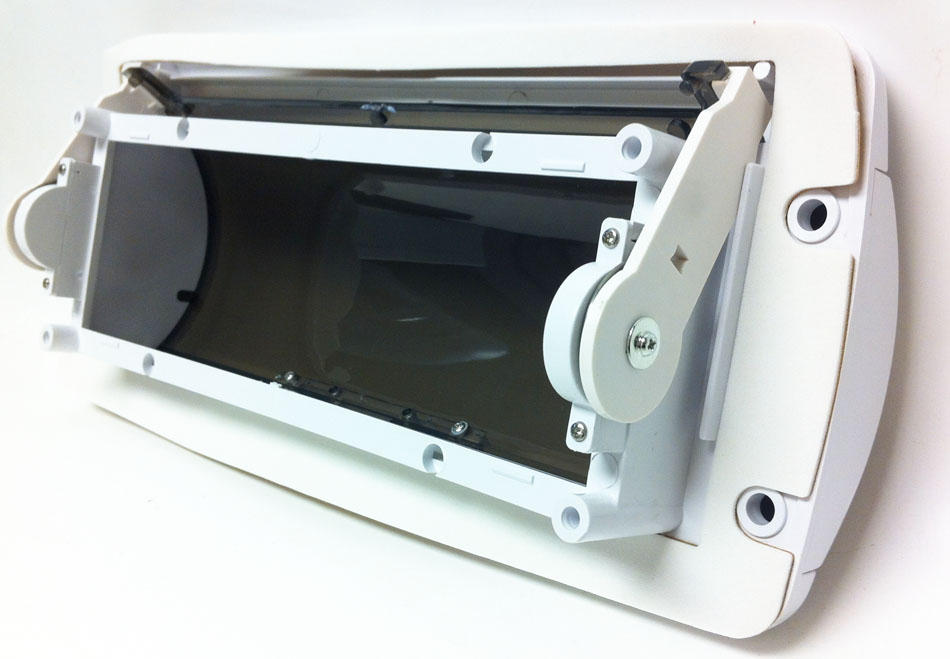 marine dash car stereo cover kit white faceplate with smoked front car stereo conversions at Car Stereo Cover
