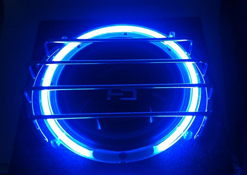 10 inch blue neon speaker rings glow subwoofer