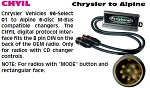Chrysler 1996-2000 CD Changer Ready Factory Radio to Alpine M-Bus CD Changer Cable