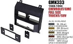 Dash Stereo Install Kit American International GM-K333s