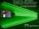 4pc GREEN UnderBody LED Kits Glow N Street - Wireless Remote