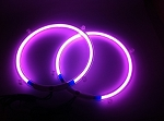 10 Inch PURPLE Neon Speaker Rings: Glow Subwoofer w/OUT Dancer