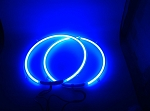 8 Inch BLUE Neon Speaker Rings: Glow Subwoofer (OUT OF STOCK)