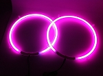 12 Inch PINK Neon Speaker Rings: Glow Subwoofer