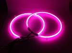 10 Inch PINK Neon Speaker Rings: Glow Subwoofer