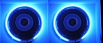 10 Inch BLUE Neon Speaker Rings: Glow Subwoofer