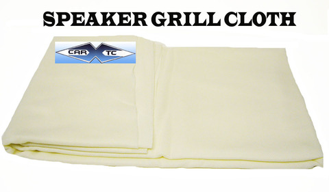 Off White Speaker Grill Cloth Grille Fabric Cover 66x36 OW
