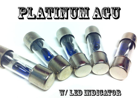 AGU 5pk FUSES PLATINUM Plated w LED Indicator: Car Electrical & Stereo Installs