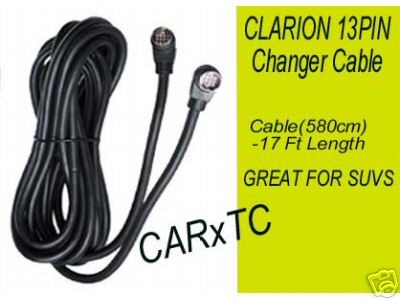 CD CHANGER CABLES for CLARION STEREOS 17FT