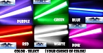 10 Inch Neon Car Lights (Color Select)