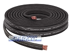 4 Gauge Flat Power Ground Cable - 10ft BLACK: OFC Copper 1666 Strand Count