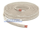 4 Gauge Flat Power Ground Cable - 10ft Platinum: OFC Copper 1666 Strand Count