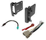 For Jeep Commander 2008-2010 Complete Stereo Install w Dash Kit Wire Harness & Antenna FM Plug