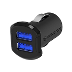 Dual USB Car Charger iPad / iPhone / Android  Sleek and Fast (2x 2.4A) - Scosche