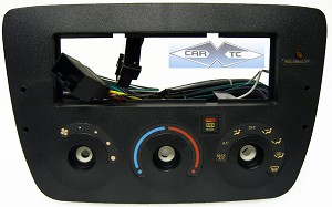 Ford Taurus (w/ Rotary Climate Controls) 2007 Single Din Radio Faceplate Dash Install Stereo Kit (Airbag)