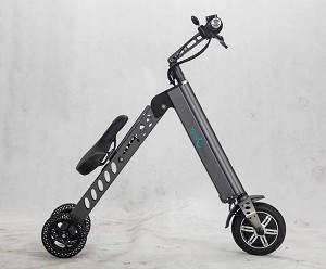E-Bike / Trike Electric Bicycle Portable: Light-Weight Folding Tricycle