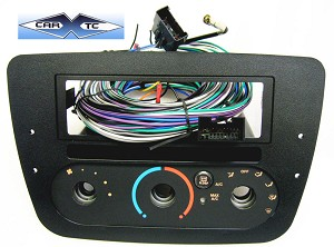 Mercury Sable (w/Rotary Climate Controls) 2002 Single Din Radio Faceplate Dash Install Stereo Kit (w CD Pocket)