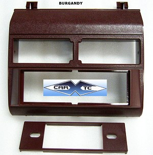 Chevrolet Pickup (Fullsize) 1993 Single Din Radio Faceplate Dash Install Stereo BURGUNDY Kit