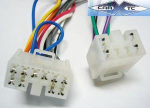 toyota yaris liftback 07 2007 factory car stereo wiring installation harness  oem radio install wire  carxtc
